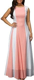 LISTHA Chiffon Maxi Dress Plus Size Women Sleeveless Loose Party Long Dresses