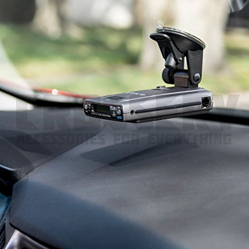 Car Radar Mount, Crossery Windshield & Dashboard Radar Detector Suction Mount for Escort Passport, Beltronics Vector & Rocky Mountain Phantom-T Radar Detectors, Easy To Install, Adjustable, Black