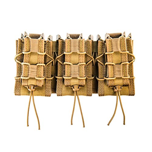 High Speed Gear MOLLE Double Decker TACO Shingle, 3 Rifle/Pistol Mag Pouches - Coyote Brown