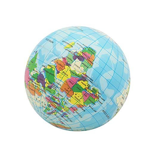 Juguetes antiestrés,CHshe❤❤,Alivio del estrés Mapa del mundo, Bola de espuma Atlas Globo,Bola de la palma Planeta Tierra Bola 93 mm,regalos perfectos para adultos