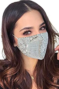 Halloween Christmas Masquerade Mask for Women Bling Sequins Fashion Party Face Mask for Girls