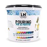 LM Pouring Fix & Fertig Set 10 tlg. - Basic - Fertig gemischte Pouring-Farben -Farbe gießen, Pouring-Farbe, Medium, Puddle-Pouring, Dirty, Flip Cup