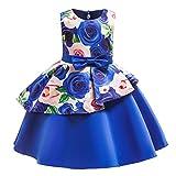 Innerternet Mädchen Ärmellos Vintage Kleid Rockabilly Blumendruck Swing Party Kleider Spitze Tüll...