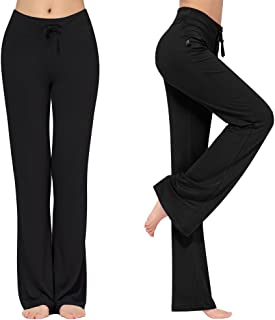 KY-YPFW Women's Loose Drawstring Trouser Wide Leg Yoga Pants for Sporting Straight Pants