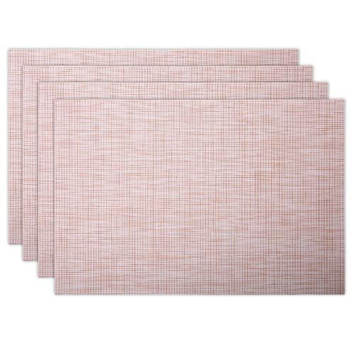 Citétoile Stylische PVC-Tischsets (4 Stück), waschbar, rutschfest, hitzebeständig, wasserfest, Maße: 45 x 30 cm nude