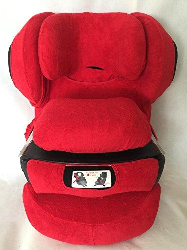 Sommerbezug Schonbezug für Cybex Junofix und Juno 2-Fix Frottee 100% Baumwolle rot