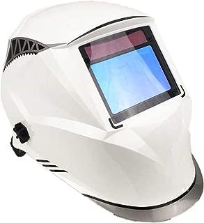 Casco de soldadura, energía solar auto oscurecimiento, gama de pantalla completa y clase óptica más alta (1/1/1/1), gran área de visión, máscara de soldadura