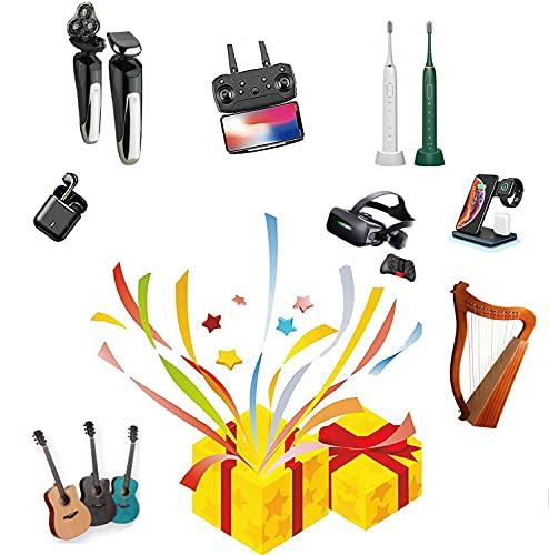 ZRSHBBAD Lucky Box, Mistery Box Probabilmente Riceverai Droni, Gamepad, Auricolari Bluetooth, Droni, Robot Spazzanti, Luci del Proiettore del Cielo Stellato, Occhiali VR, Casuale,002