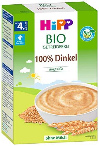 Hipp biologische ontbijtgranen 100% spelt zonder toegevoegde suiker, 2-pack (2 x 200 g)