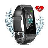 Fitness Tracker, Fitness Armband Wasserdicht IP68 Smartwatch Fitness Uhr aktivitatstracker mit Pulsmesser Schrittzähler Schlafmonitor Anruf SNS Beachten für Damen Herren Kinder iOS Android...