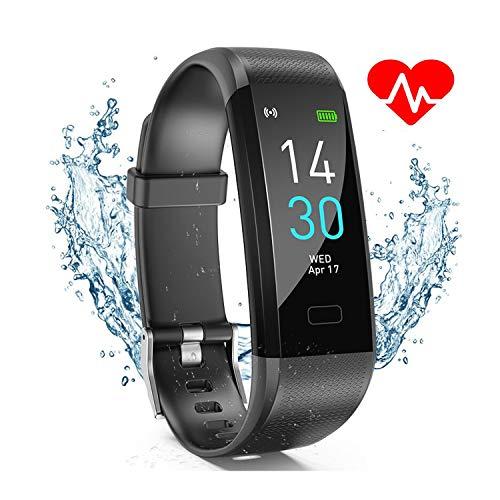 Ablever Fitness Armband,Fitness Tracker Wasserdicht IP68 Smartwatch Fitness Uhr aktivitatstracker mit Pulsmesser Schrittzähler Schlafmonitor Anruf SNS Beachten für Damen Herren Kinder für iOS Android