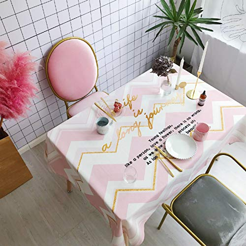YOUYUANF tablecloth wipeVinyl coated cotton easy to wipe clean linoleum tablecloth140x140cm