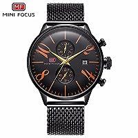 QTMIAO 美しいmini focus時計 MINI FOCUS/メンズビジネスウォッチ/カレンダー防水/レザーストラップ/ヨーロッパとアメリカのホット0135G (Color : 3)