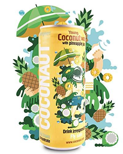 COCONAUT Kokoswasser Ananas (12 x 320ml Dose) 90% Pures Kokoswasser + 10% Ananassaft
