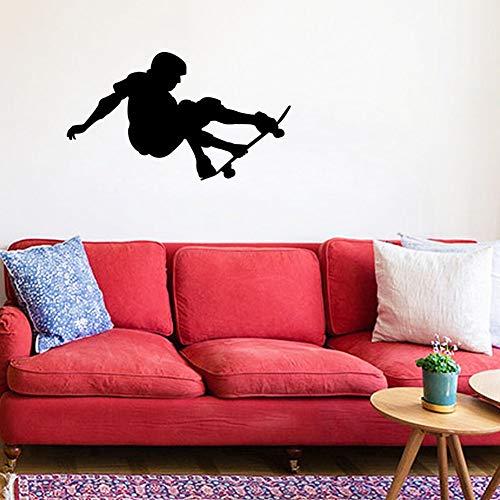 Tianpengyuanshuai Skateboard Star Wandaufkleber Junge Entfernbarer Wandaufkleber Room Home Selbstklebende Tapete 34x58cm