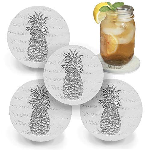 Need unique Gift Ideas for the Letter P? Try these pineapple coasters