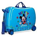 Disney Mickey Stars Valigia per bambini Azzurro 50x38x20 cms Rigida ABS Chiusura a combina...