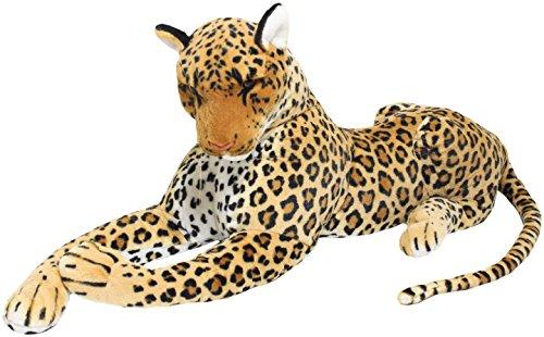 BRUBAKER peluche leopardo de color marrón de 110 cm