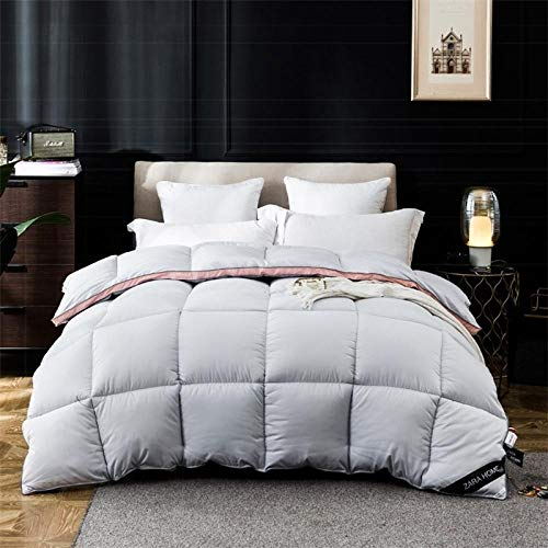 CHOU DAN Queen Duvets,Three-dimensional cotton down quilt with goose down quilt-200 * 230cm 3000g_gray