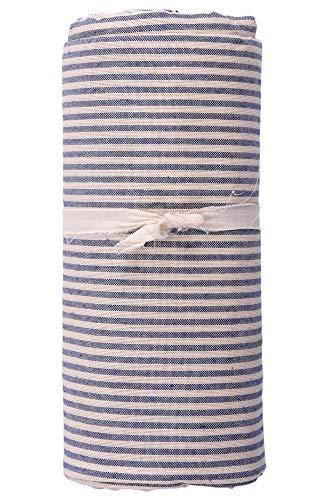 HomeLife - Telo Arredo Copridivano a righe – Lenzuolo Copritutto Multiuso in Cotone – Granfoulard Copriletto per letto Matrimoniale [260 X280] - Blu – Made in Italy