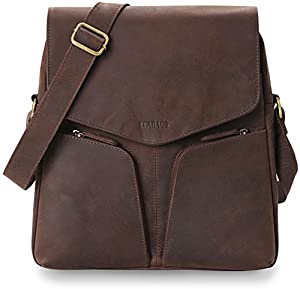 LEABAGS Hong Kong genuine buffalo leather crossbody bag in vintage style