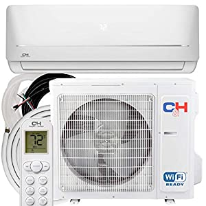COOPER AND HUNTER 9,000 BTU, 115V, 19 SEER Ductless Mini Split AC/Heating System MIA Series Pre-Charged Inverter Heat Pump with 16ft Installation Kit