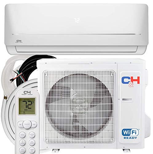 COOPER AND HUNTER 24,000 BTU, 230V, Ductless Mini Split AC/Heating System WiFi Pre-Charged Inverter Heat Pump with 16ft Installation Kit