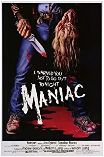 Maniac Movie Poster (27 x 40 Inches - 69cm x 102cm) (1980) -(Joe Spinell)(Caroline Munro)(Gail Lawrence)(Kelly Piper)