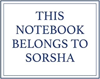 This Notebook Belongs to Sorsha