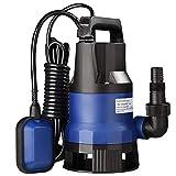 Yescom 1/2 HP 2113GPH 400W Submersible Dirty Clean Water Pump Swimming Pool Sump Pump Pond Flood Drain Foundain Sub Pump