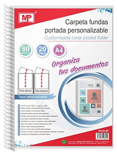 MP PC513F - Carpeta fundas 80 micras portada personalizable