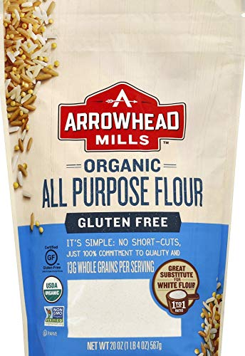 Arrowhead Mills Gluten Free All Purpose Flour, Organic, 20 Ounce Bag (Pack of 6)