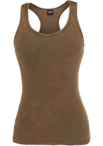 Urban Classics Herren Ladies Faded Tank T-Shirt, Olivgrün, XS