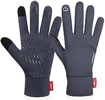 coskefy Handschuhe Winter Laufen Touchscreen Leicht Elastisch Sport Gloves Motorrad Fahrrad Herren Damen Winddicht...