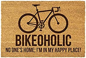 Personalised Bike Coir Door Mat - Bike Lovers Gift - Birthday, Father's Day Gift - Gift for Him or Her - Indoor &...
