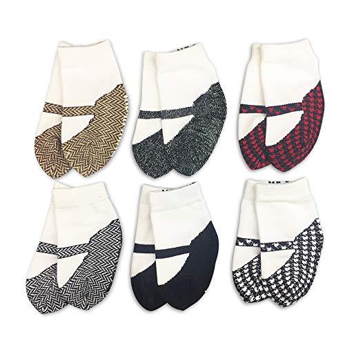 JazzyToes Baby Boys' 6 Pair Socks Cowboy Boot Design, 12-24 Months