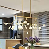 NIUYAO 47.24' Long Branch Pendant Lighting Sputnik Firefly Chandelier Led Island Hanging Lamps with with 27 G4 Blub (Gold) 487767