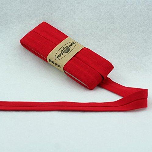 Oaki Doaki Jersey-Einfassband 3m, elastisches Schrägband, Breite: auf 2cm vorgefalzt, rot (620)