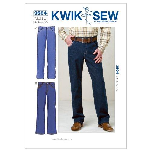 Kwik Sew K3504 Jeans Sewing Pattern, Size S-M-L-XL-XXL