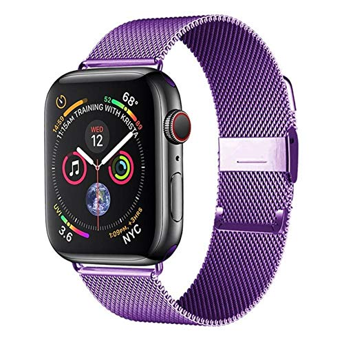 AISHANG Cinturino per Cinturino Apple Watch 44 Mm 42 Mm 38 Mm / 40 Mm Acciaio Inossidabile per Bracciale Iwatch 40 42 38 Mm per Apple Watch Serie 6 5 4 3 44 Mm, Cina, Lavanda