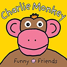 Funny Faces Charlie Monkey Large by [Roger Priddy]