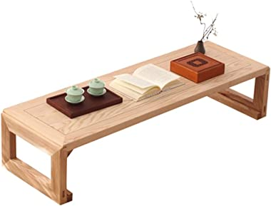 Table Low Table Long Strip Coffee Table Zen Tea Table Balcony Bay Window Table Tatami Coffee Table Tables (Color : Beige, Siz