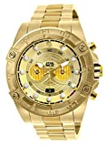 Invicta Men's Star Wars C-3PO 52mm Stainless Steel Chronograph Quartz Watch, Gold (Model: 26525)
