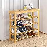 Organizador de zapatos Almacenamiento de zapatos de madera Banco de almacenamiento Organizador de almacenamiento Hecho de 100% instintivo Bambú de bambú zapato zapatería. ( Size : 60*27*82cm )
