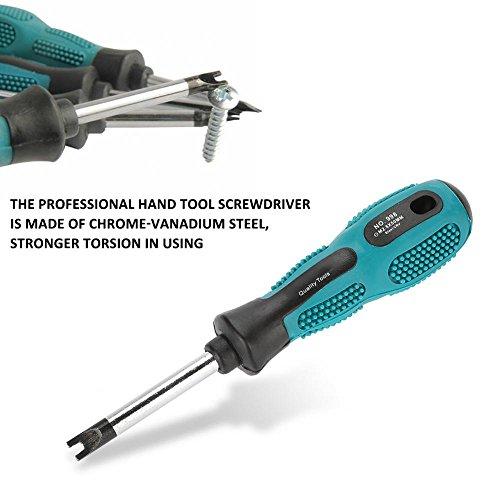 U Screwdriver, 4pcs CRV Steel U Fork Type Magnetic Screwdriver Multifunctional Hand Tool DIY Screwdriver Kit