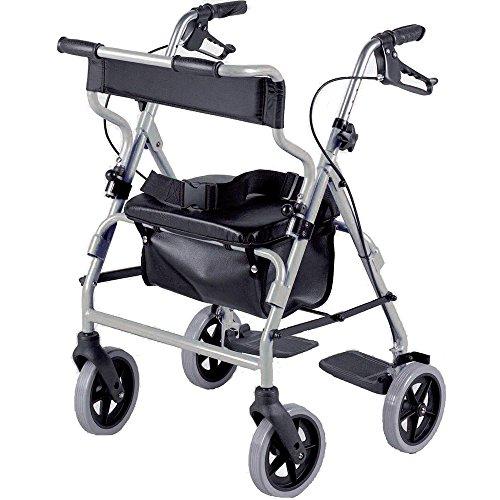 2-in-1-Rollator und Stuhl für unterwegs