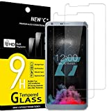 NEW'C 2 Unidades, Protector de Pantalla para LG G6, Antiarañazos, Antihuellas, Sin Burbujas, Dureza 9H, 0.33 mm Ultra Transparente, Vidrio Templado Ultra Resistente