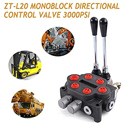 Valve TBVECHI ZT-L20-2 Monoblock Directional Control Valve 2 Spool 25GPM Double Acting Hydraulic Valve Tractors loaders Tanks 3000PSI from TBVECHI