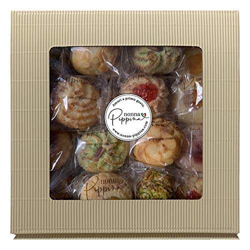 NONNA PIPPINA Pasticcini Siciliani, gemischtes Mandelgebäck aus Sizilien, 1.000g Familien-BOX