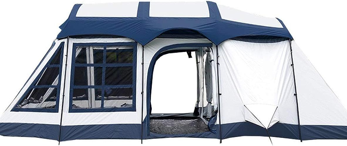 Liuwenan Prougeection Solaire imperméable extérieure Deux Chambres et Un Salon 8-10 Personnes Camping Famille Tente Sac à Dos Tente